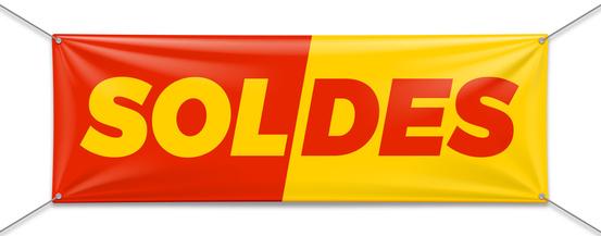 bannière publicitaire - bannière classique pour l'annonce de soldes