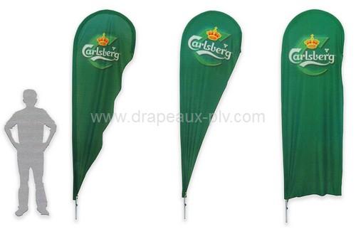 Drapeaux publicitaires - différentes formes de beach flage ou drapeau plume