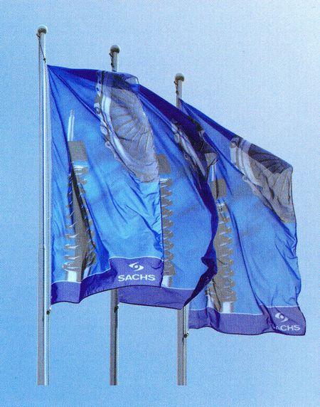 drapeau plv - bannières publicitaires fixées sur drisse et mât à pommeau